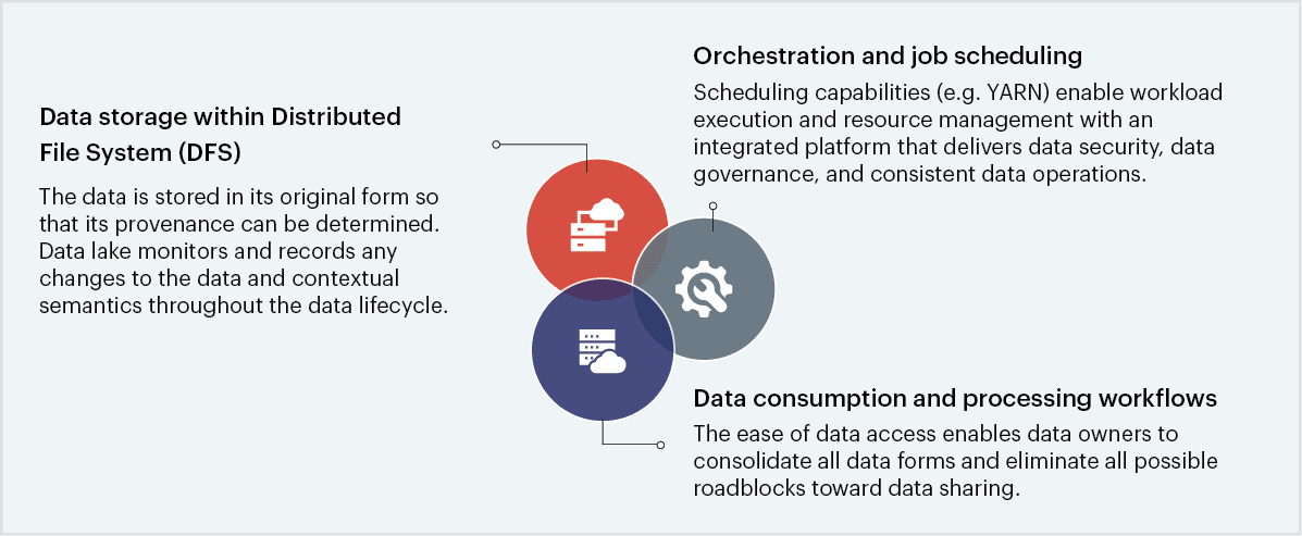 Attributes of a big data repository to be classified as a data lake