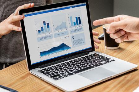 Analytics Data on Laptop